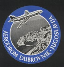 Airline label luggage labels Jugoslavija Airport RARE #420